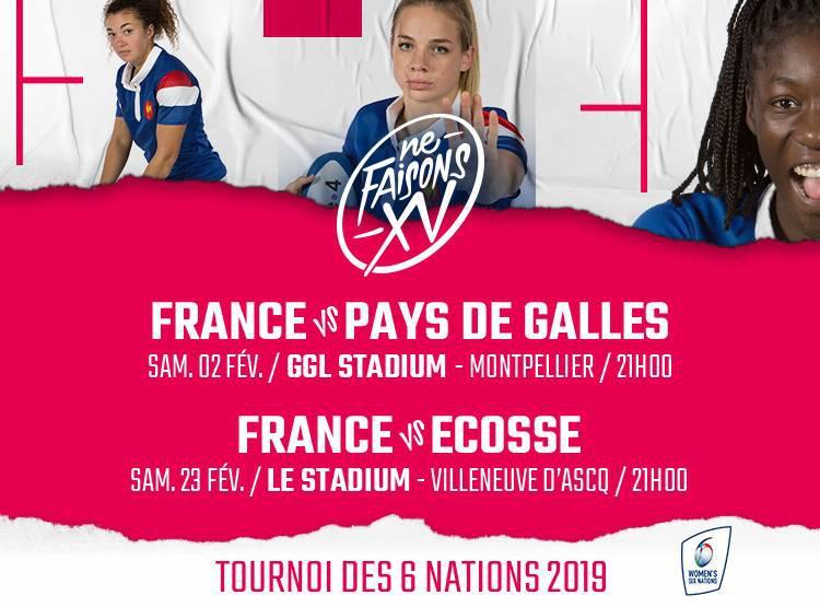 Calendrier Du Tournoi Des 6 Nations.France Feminines Ouverture Billetterie Tournoi Des 6