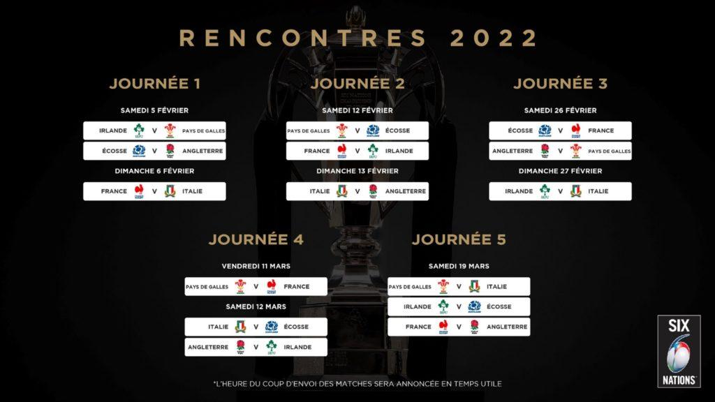 Calendrier Des 6 Nations 2022 Tournoi des 6 Nations 2022 : France – Angleterre en clôture !
